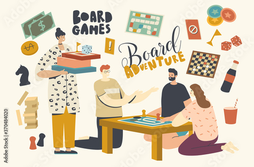 Fotomural Characters Playing Board Games