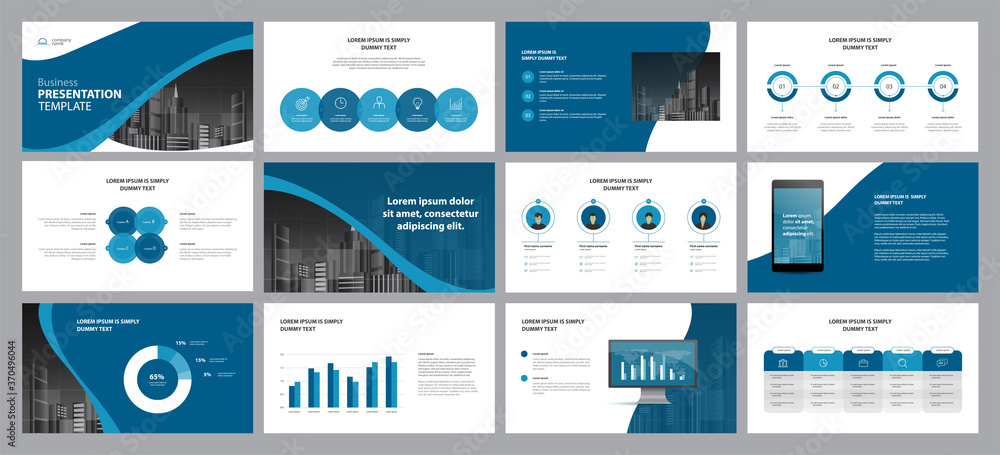Fototapeta template presentation design and page layout design for brochure ,book , ,annual report and company profile , with info graphic elements design