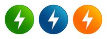 Electric Bolt Icon Liquid Desi...