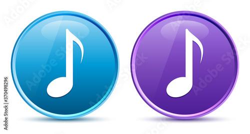 Fényképezés Musical note icon sleek soft round button set illustration