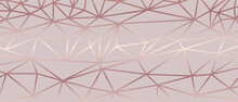 Luxury  Abstract Polygon Artistic Geometric With Rose Gold Line Background. Decorating In Pattern Of Premium Polygon Style For Ads, Poster, Cover, Wallpaper, Print, Artwork.  Vector Illustration.