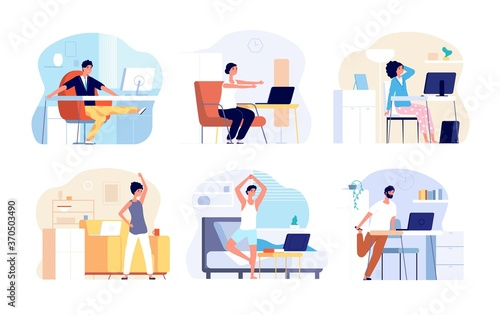 Office syndrome Wallpaper Mural