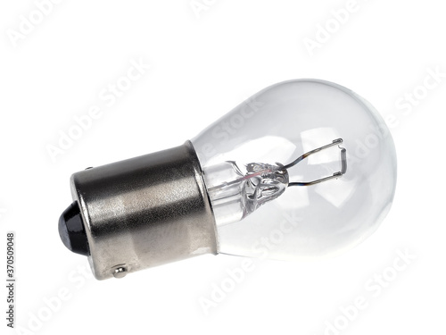 Low voltage bulb with bayonet mount isolated on white background Canvas Print