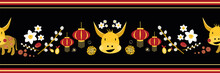 Chinese New Year Of The Ox Vec...