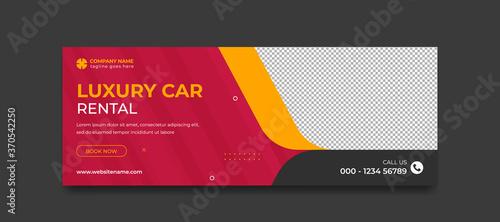 Fotografija Rental car social media banner template