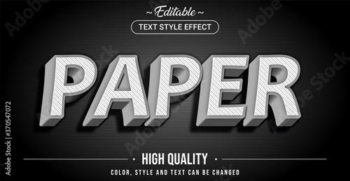 Obraz na plátně Editable text style effect - Paper theme style.