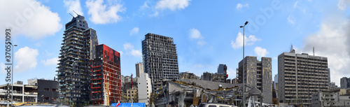 Photo downtown Beirut Lebanon after the blast