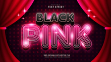 Black Pink Text Effect