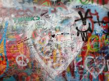 John Lennon Wall. Prague. Czech Republic. Street Art.
