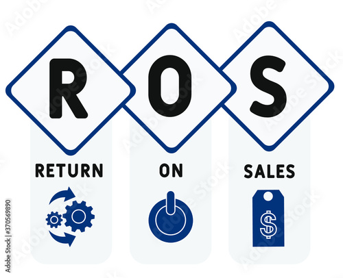 ROS  - return on sales Canvas Print