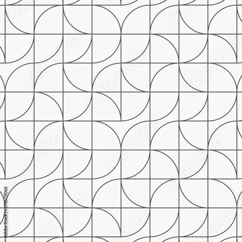 Tapeta czarno biała  geometric-vector-pattern-repeating-linear-curve-on-square-in-different-aspect-pattern-is-clean-for-fabric-wallpaper-printing-pattern-is-on-swatches-panel