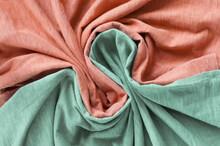 The Folds Of The Fabric. Orang...