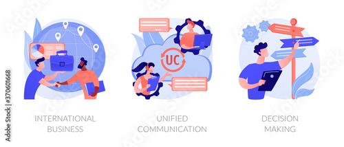 Fotografia, Obraz Business communication and collaboration, teamwork, partnership