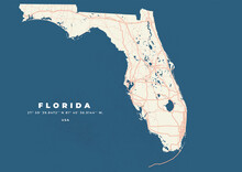 Florida Map Vector Poster Flyer