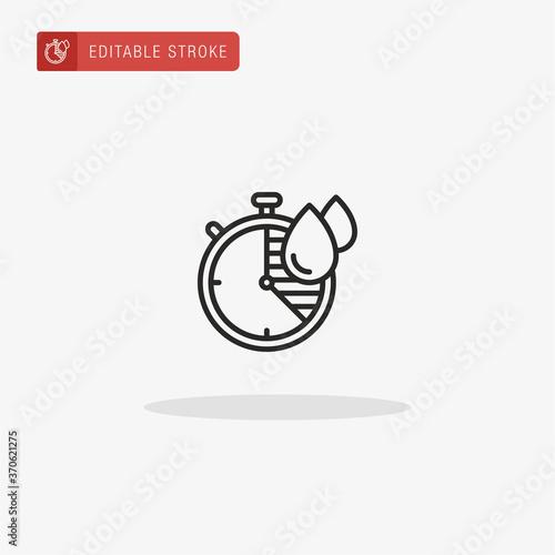 Quick Dry icon vector. Quick Dry icon for presentation. Fototapet
