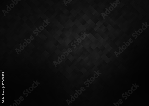 Fotografiet Dark Black vector backdrop with rectangles, squares.
