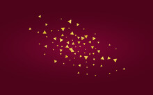 Golden Dust Holiday Burgundy Background. Glamour