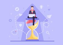 Business Deadline Concept. Vec...
