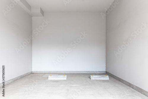 Obraz Empty space car park interior at office building - fototapety do salonu