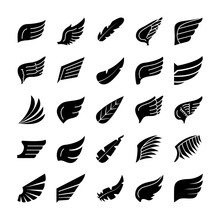 Wings And Feathers Icon Set, S...