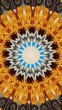 Abstract Fractal Yellow Kaleidoscope Background