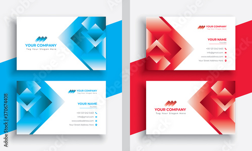 Leinwand Poster Modern Abstract Blue Colorful Business Card Template