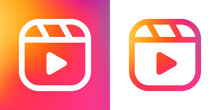 Instagramm Reels Icon, Line Ve...