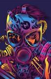 Fototapeta Młodzieżowe - Soldier Cyberpunk