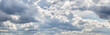 cloudscape with many white clouds in sky