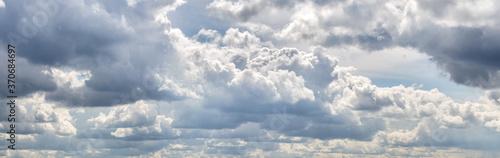 Fototapeta cloudscape with many white clouds in sky obraz