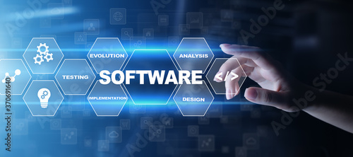 Fotografía Software development and business process automation, internet and technology concept on virtual screen