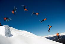 Multi Frame Of Ski Jump