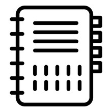 Notebook Icon. Outline Noteboo...