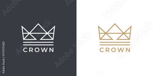 Kings gold crown logo template Wallpaper Mural
