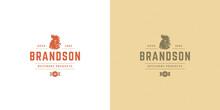 Butcher Shop Logo Vector Illustration Rooster Head Silhouette Good For Poultry Farm Or Restaurant Badge