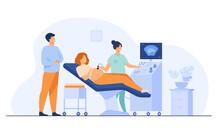 Prenatal Care Concept. Sonogra...