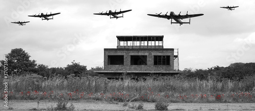 Fototapeta Avro Lancaster bomber, British 4 engined ww2 heavy bomber