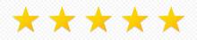 5 Gold Stars Quality Rating Ic...
