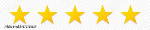 Valokuva 5 gold stars quality rating icon