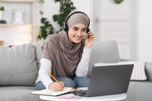 Online Education. Smiling Arab...