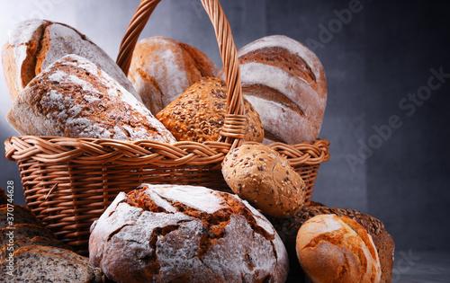 Obraz na plátně Composition with assorted bakery products