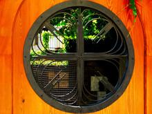 Round Window Opening In Yellow...