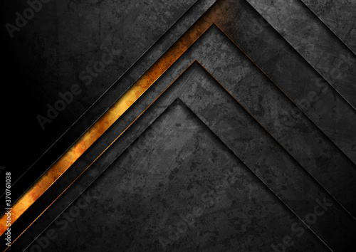 Obrazy czarne  luxury-golden-and-black-grunge-geometric-abstract-background-vector-retro-design