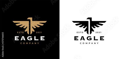 Canvas-taulu Eagle crest logo icon template design