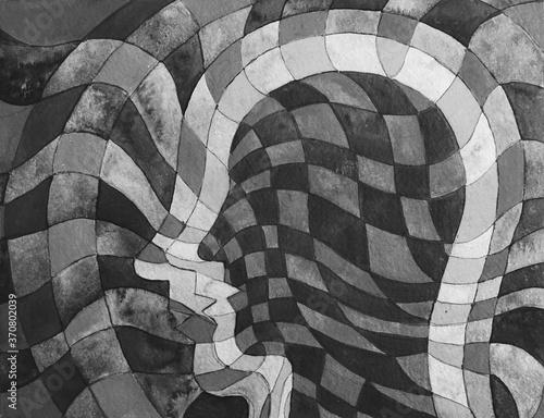 Illustrazione grafica, spirito e materia Poster Mural XXL