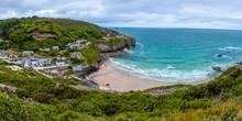 St Agnes Town Cornwall Coast UK Cornish Sea Holiday Landscape Hike