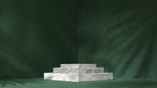 White Marble Showcase Podium F...
