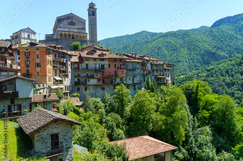 Bagolino, historic town in Brescia province Fototapet