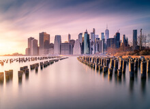 Manhattan Skyline And Poles Of...