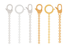 Golden And Silver Chain With C...